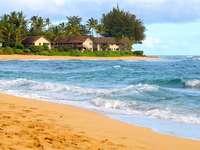Strand an der Küste von Kauai (USA)