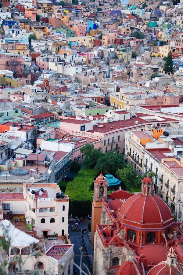Panorama of Guanajuato (Mexico) - Guanajuato is the city in central Mexico, the capital of the Guanajuato state, locaded on the area of the Mesa Central (at the height of over 2000 m). The city is a tourist attraction mostly for its l (10×15)