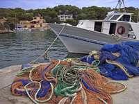 Bateau de pêche à Majorque (Espagne)