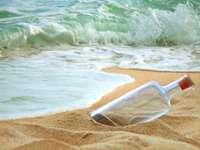 Bottle on a beach
