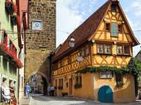 Centre of Rothenburg ob der Tauber (Germany)