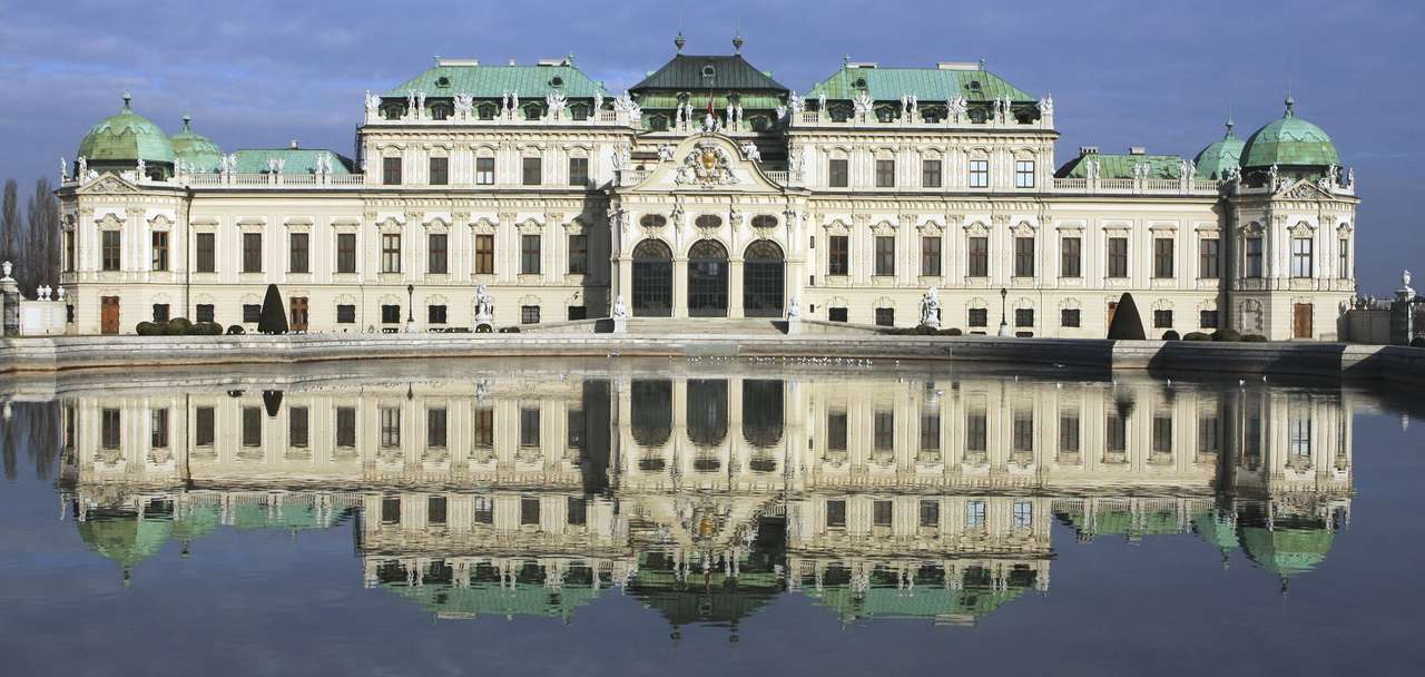 Belvedere in Vienna (Austria) - Belvedere is the baroque palace located in the Austrian capital, built on request of prince Eugene of Savoy. The palace consists of two buildings divided by a garden. In the middle of the 18th century (15×7)