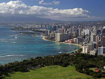 View from Diamond Head crater (USA)
