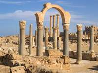 Ruins of an ancient town in Sabratha (Libya)