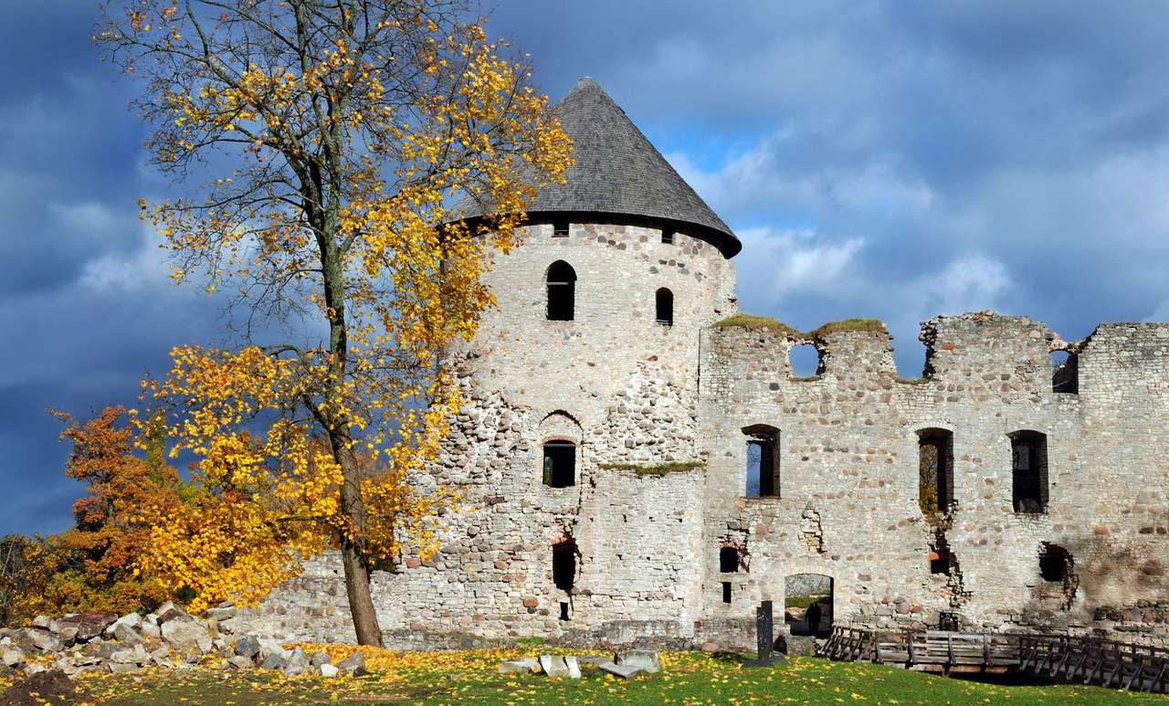 Castle ruins in Cesis (Latvia) - Ruins of the castle in Cēsis (Latvia). The castle in Cesis is over 800 years old. Despite that it is a perfectly preserved architectonic monument of the city and the main tourist attraction of Latvia (7×10)