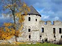 Castle ruins in Cesis (Latvia)