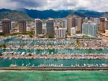 Marina in Honolulu (USA)