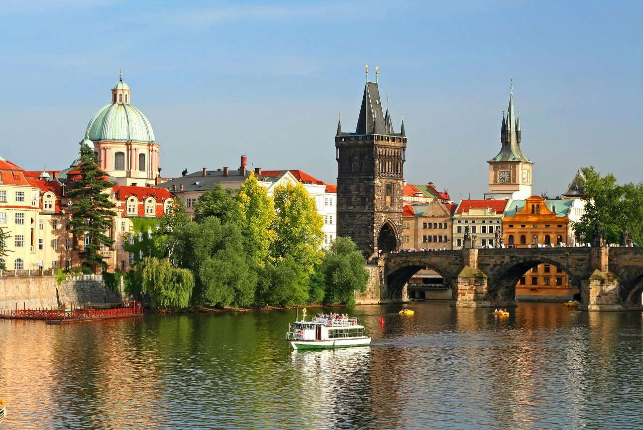 Charles Bridge in Prague (Czech Republic) - The Charles Bridge is one of the most recognizable monuments of the Czech capital. It was built in the second half of 13th century during the reign of emperor Charles IV, after whom it is named. Today (7×5)