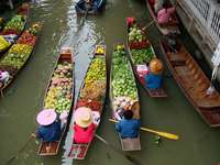Floating market in Bangkok (Thailand)