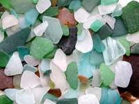 Polished pieces of glass
