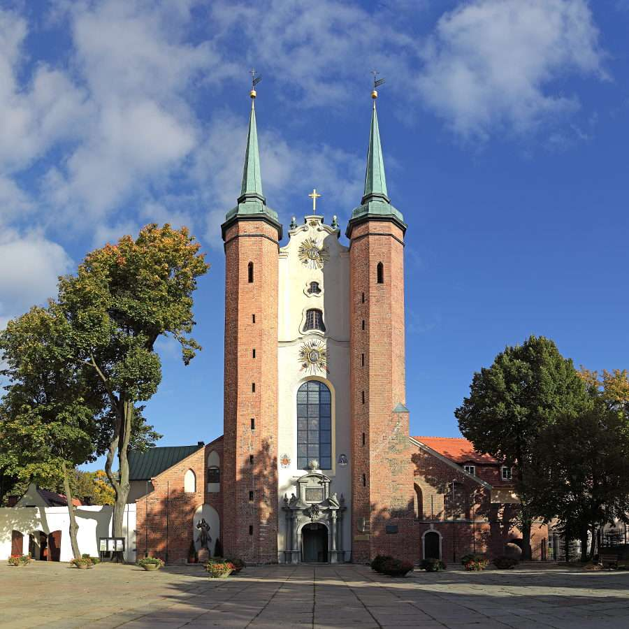 Oliwa Cathedral in Gdańsk (Poland) - Gdańsk is the port city located on the Baltic Sea. It is the capital of the Pomeranian Voivodeship, cultural, scientific and commercial centre of northern Poland. In Gdańsk, apart from the nearby se (6×5)