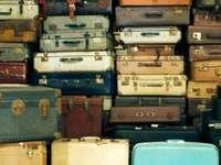 Coleção de malas velhas