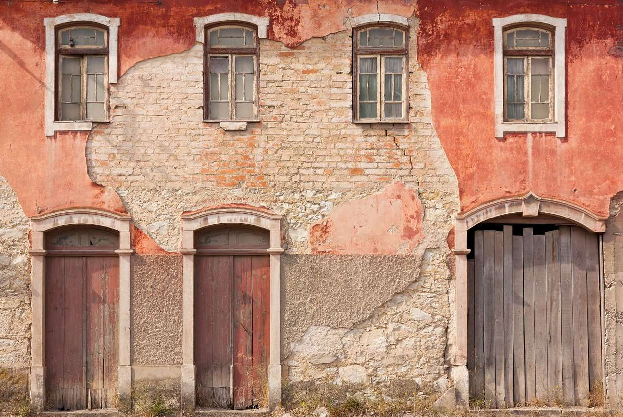 """Devastated facade of a house (Portugal) - Beauty can be found not only in things that are clean and well-kept – objects that are commonly considered """"ugly"""" represent immense aesthetic qualities as well. Tourists visiting Portugal may ad (12×9)"""
