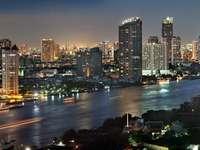 Bangkok city at twilight (Thailand)