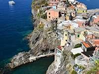 Town of Vernazza in Cinque Terre region (Italy)