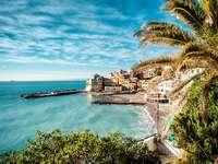 Bay in the town of Bogliasco (Italy)