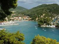 The view of Parga from the Bay (Greece)