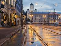 Lutherse kathedraal in het centrum van Helsinki (Finland)