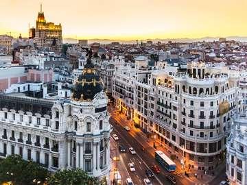 Gran Vía in Madrid (Spain)