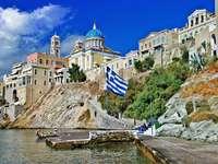 Ermoupoli en la isla de Siros (Grecia)