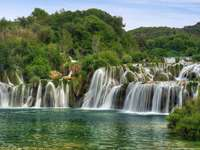 Waterfalls on Krka River (Croatia)