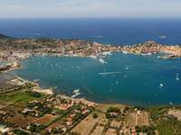 Panorama of the island of Elba (Italy)