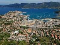Panorama of Portoferraio harbor on Elba (Italy)