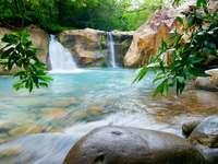Waterfalls in the Rincón de la Vieja National Park (Costa Rica)