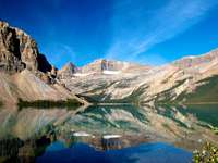 Bow Lake ve Skalistých horách (Kanada)