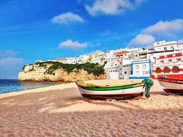 Beach in Carvoeiro (Portugal)