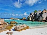 Beautiful beach (Seychelles)