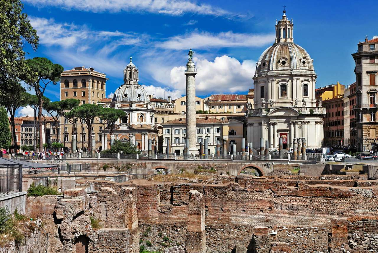Ruins of Trajan's Forum (Italy) online puzzle