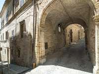 Street in Monterubbiano (Italy)