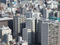 High-rise buildings in the Bunkyo District in Tokyo (Japan)