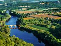 Bridge over the Dordogne river (France)
