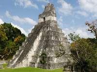 Ruins in the Mayan city of Tikal (Guatemala)
