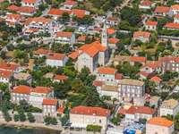 Town of Orebić on the Pelješac Peninsula (Croatia)