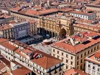 Piazza della Repubblica in Florence (Italy)
