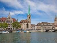 Limmat River in Zurich (Switzerland)