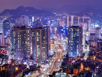 Gangnam District in Seoul (South Korea)