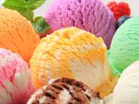 Fruit ice cream