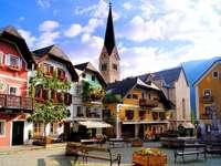 Markt im Dorf Hallstatt (Österreich)