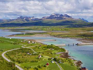 Panorama of the Lofoten Islands (Norway)