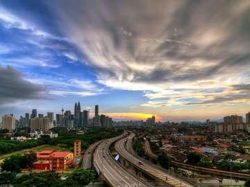 View of Kuala Lumpur (Malaysia)