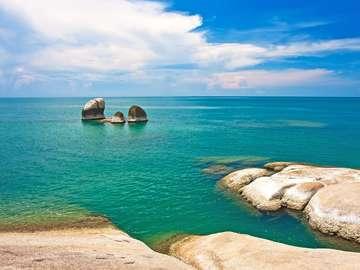 Lamai Beach on the Island of Koh Samui (Thailand)
