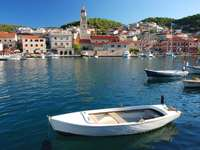Port town of Pučišća on the island of Brač (Croatia)