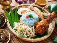 Μπαμπού μπολ με nasi kerabu
