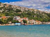 Village of Baška on the island of Krk (Croatia)
