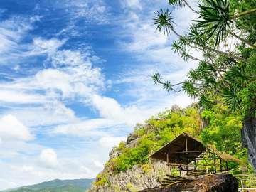 Paradise coast of the island of Busuanga (Philippines)