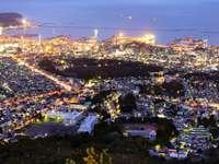 Panorama of Otaru at night (Japan)